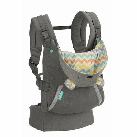 Infantino Cuddle Up Ergonomic Hoodie Baby Carrier-Baby Carriers-Infantino-Grey-www.hellomom.co.za