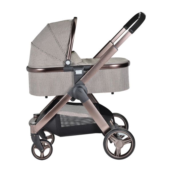 Chelino Platinum Lunar stroller with carrycot