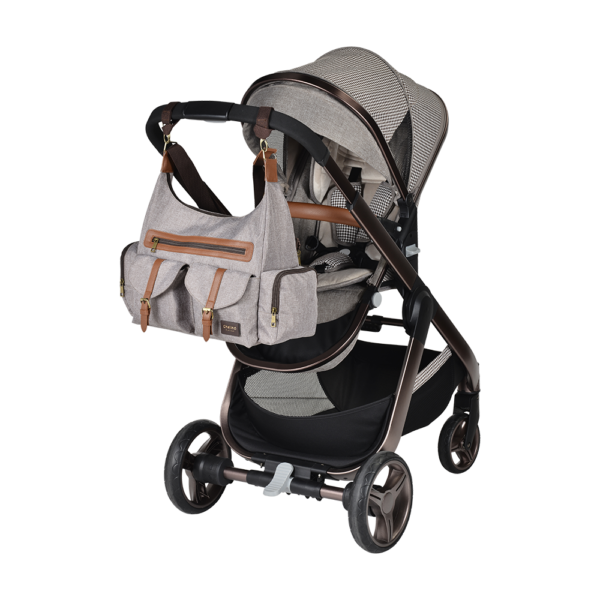 Chelino Platinum Lunar 3 in 1 Travel System in Rose Gold with Free Bubble Cover