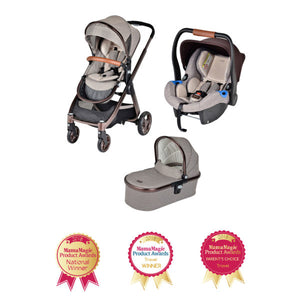 Chelino Platinum Lunar 3 in 1 Travel System in Rose Gold