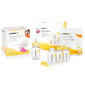 Medela Store and Feed Set with Calma Milk Bottle