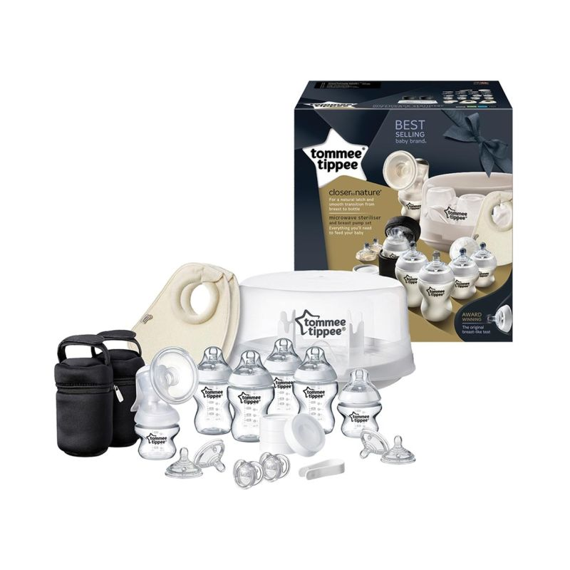 Tommee Tippee Closer To Nature Steam Sterliser and Breast Pump Set-Breastpumps-Tommee Tippee-www.hellomom.co.za