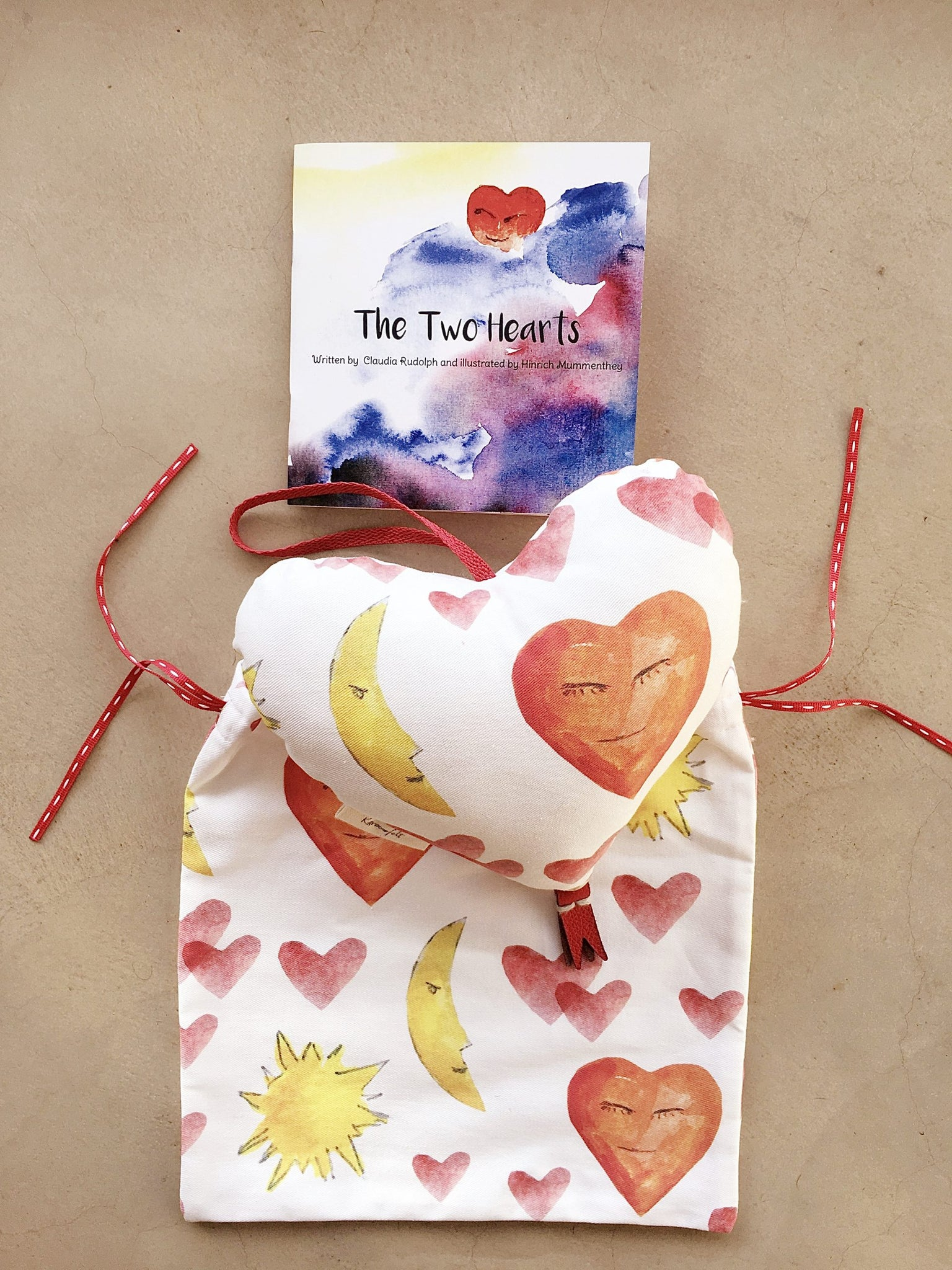 Musical Heart Mobile with Booklet Combo-Mobiles-Karoofelt-Brahm's Lullaby-www.hellomom.co.za