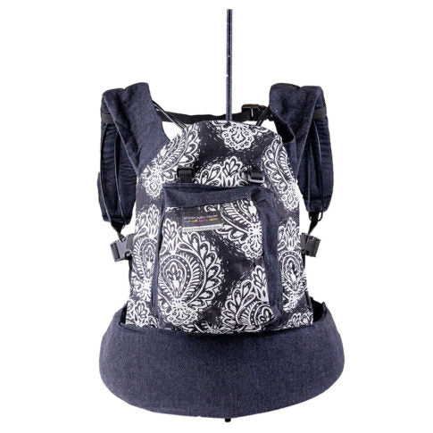 African Baby Carrier Original Peppertree-Baby Carriers-African Baby Carrier-Black Paisley-www.hellomom.co.za