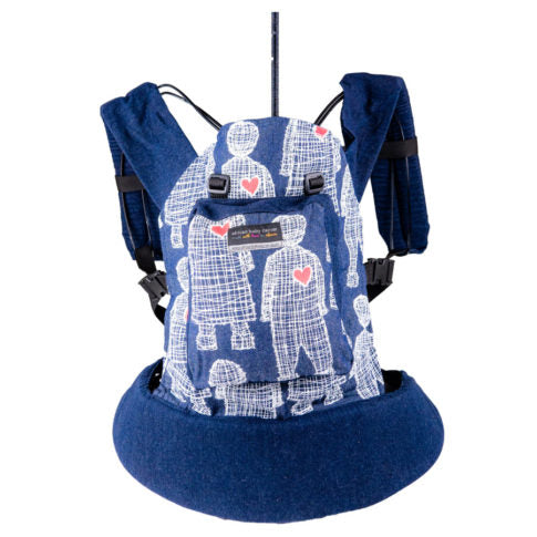 African Baby Carrier Original Peppertree-Baby Carriers-African Baby Carrier-Denim Boy Heart-www.hellomom.co.za