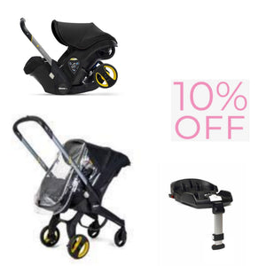 Doona Winter Combo with Isofix Base and Raincover-Car Seats-Doona-Black-www.hellomom.co.za