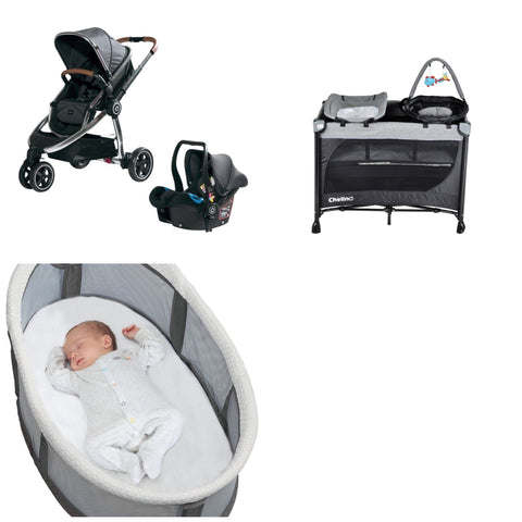 Chelino Platinum Discovery Travel System with Tiffany Camp Cot and Free Co Sleeper Nest-Travel Systems-Chelino-www.hellomom.co.za