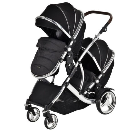 Chelino Lunar Twin Travel System with Chrome Frame