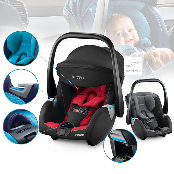 Recaro Guardia Infant Car Seat-Car Seats-Recaro-Performance Black-www.hellomom.co.za