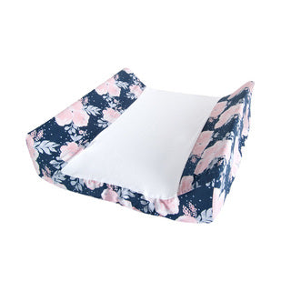 Ruby Melon Change Mat Cover-Change Mat Cover-Ruby Melon-Floral Navy-www.hellomom.co.za