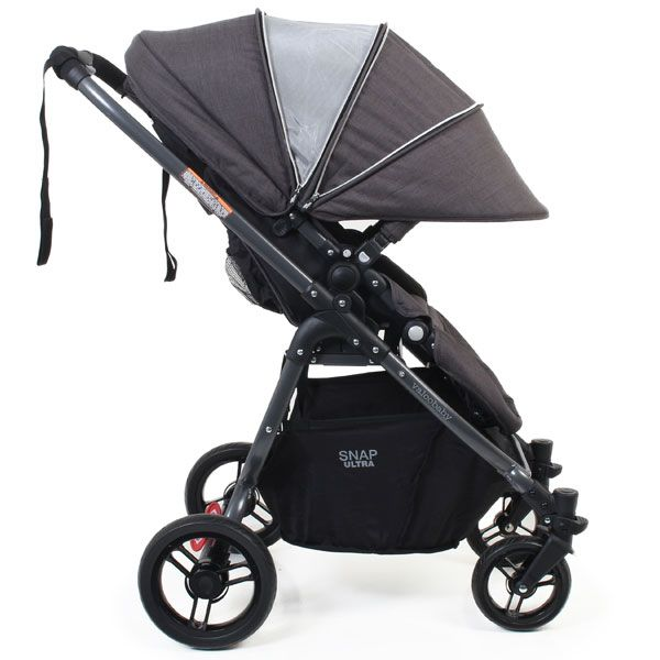Valco Snap Ultra Stroller in Night with Sun Canopy Extended