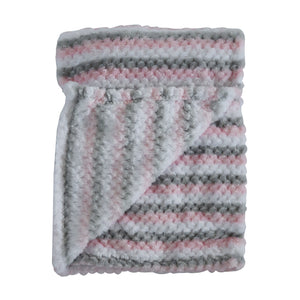 Snuggletime Honey Hive Fleece Blanket-Blankets-Snuggletime-Pink-www.hellomom.co.za
