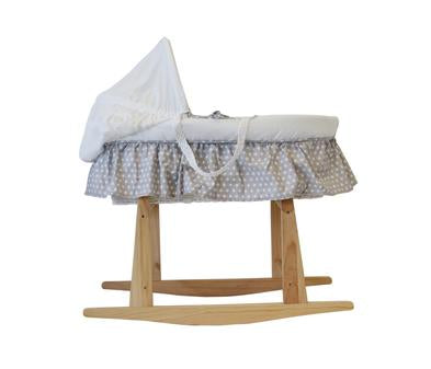 Snuggletime Moses basket with stand and linen set in grey