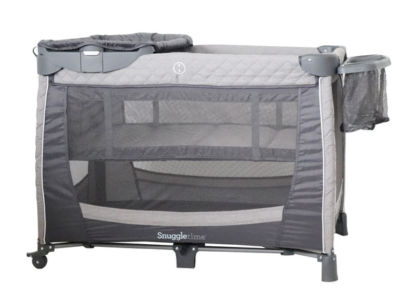 Snuggletime Camp Cot with Changer and Side Storage-Cots-Snuggletime-www.hellomom.co.za