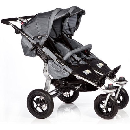 TFK Twinner Twist Stroller with 2 Maxi Cosi Pebble Pro Car Seats-Travel Systems-Trends for Kids-TFK Stroller in Grey and Maxi Cosi Car Seats in Black-www.hellomom.co.za