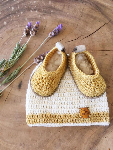 Welcome to This World Pack for Boy or Girl-Gift Sets-Karoofelt-0-3 months-Cream and Mustard-www.hellomom.co.za