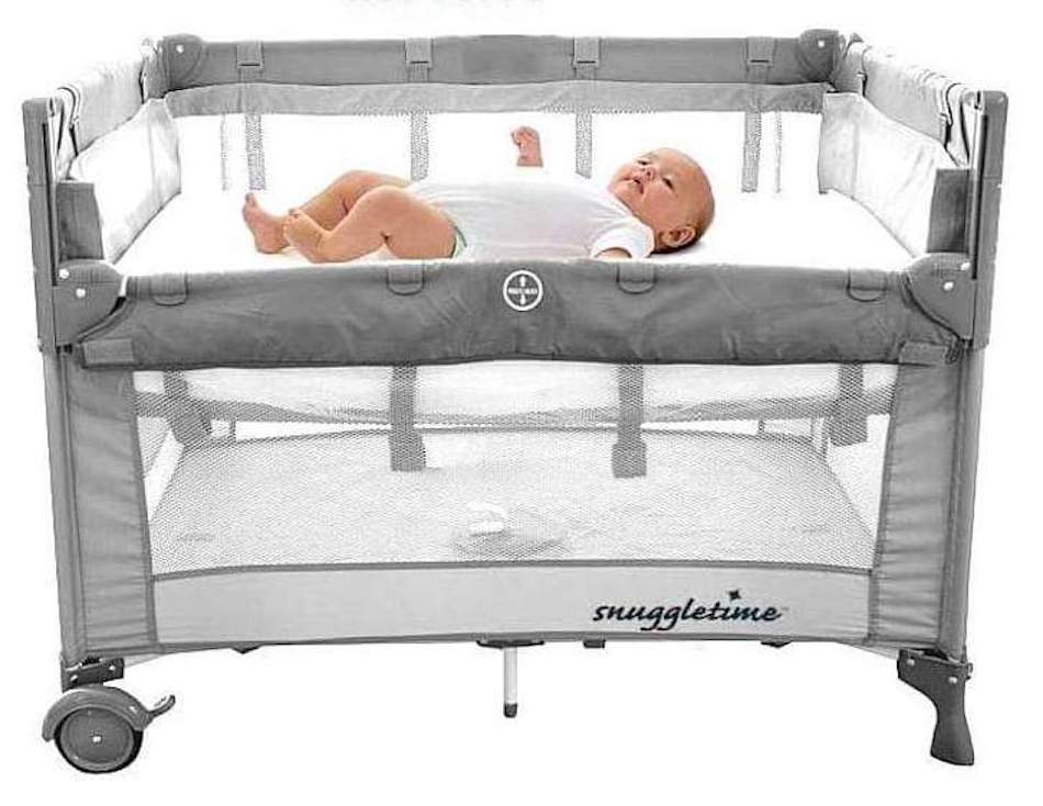 Snuggletime Deluxe Co Sleeper Camp Cot-Cots-Snuggletime-Grey-www.hellomom.co.za