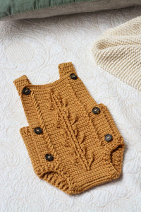 Bobble Baby Romper by Blankets From Africa-Clothing-Blankets From Africa-3 to 6 month-Old Gold-www.hellomom.co.za