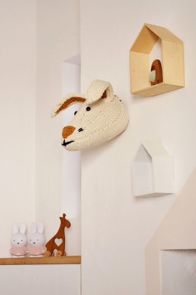 Knitted Trophies Mr Fox and Ms Hare By Blankets From Africa-Nursery Decor-Nursery Decor-Vanilla Hare-www.hellomom.co.za