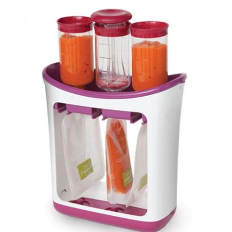 Infantino Squeeze Station Feeding Set (60 Squeeze Pouches included)-Meal Kits-Infantino-www.hellomom.co.za