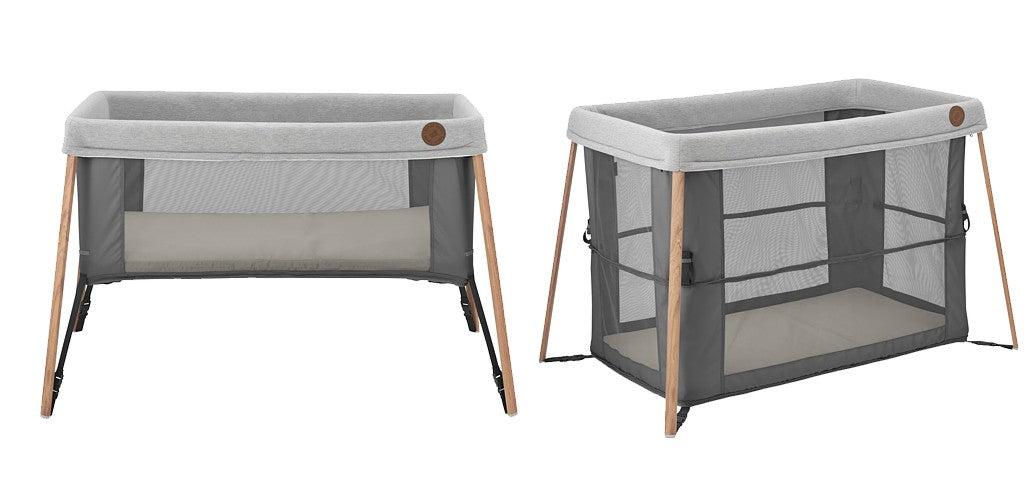 Maxi Cosi Iris 2 in 1 Travel Cot-Cots-Maxi Cosi-Essential Graphite-www.hellomom.co.za