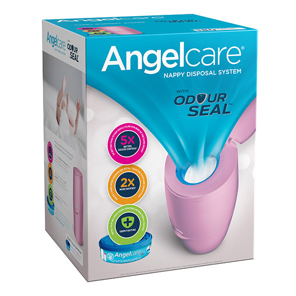 Angelcare Nappy Disposal System-Nappy Bin-Angelcare-Pink-www.hellomom.co.za