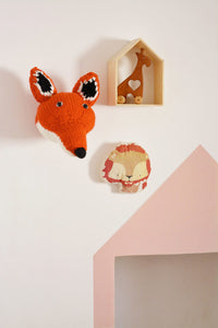 Knitted Trophies Mr Fox and Ms Hare By Blankets From Africa-Nursery Decor-Nursery Decor-Orange Fox-www.hellomom.co.za