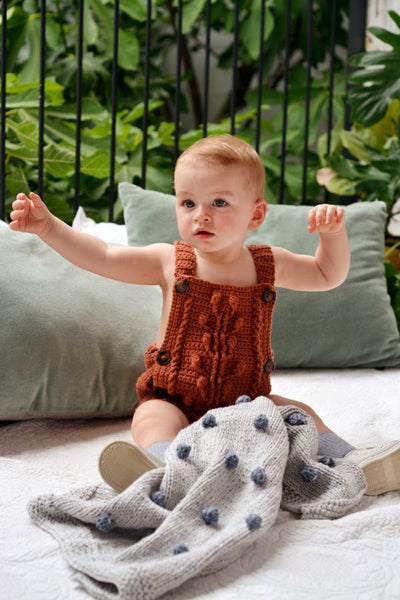 Bobble Baby Romper by Blankets From Africa-Clothing-Blankets From Africa-3 to 6 month-Persian-www.hellomom.co.za