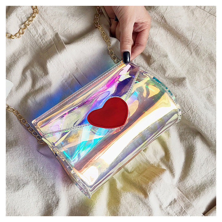 'LOVE HEART' Aurora Laser Gradient Cross-body Bag -  - TomorrowSummer