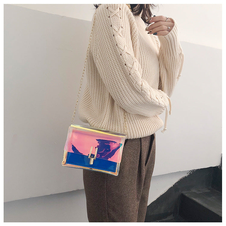 'Y' Lock Aurora Laser Gradient Cross-body Bag -  - TomorrowSummer
