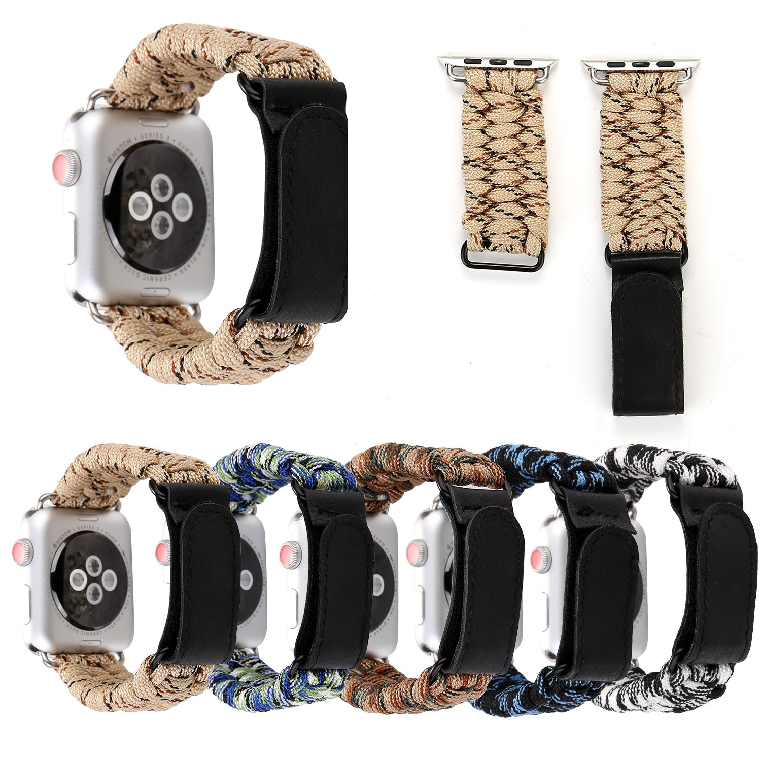 Outdoor Camouflage Velcro Strap For Apple Watch Series 1,2,3,4 -  - TomorrowSummer