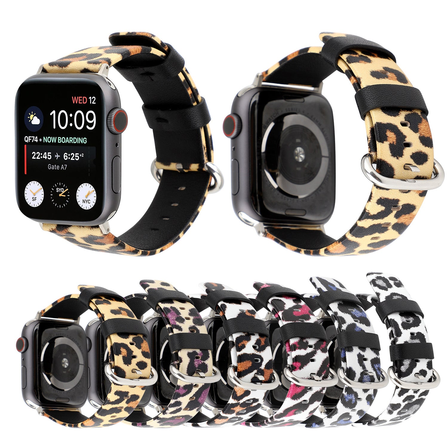 Fashion 6 Colors Leopard Leather Strap For Apple Watch Series 1,2,3,4 -  - TomorrowSummer