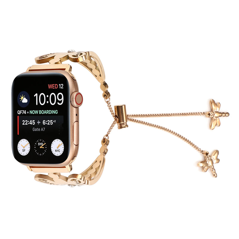 Dragonfly-Shape Stainless Steel Strap For Apple Watch 1,2,3,4 -  - TomorrowSummer