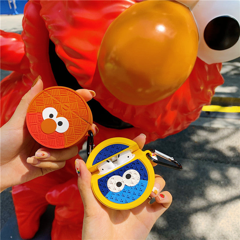 Sesame Street Manhole Cover Shaped Airpods Case -  - TomorrowSummer