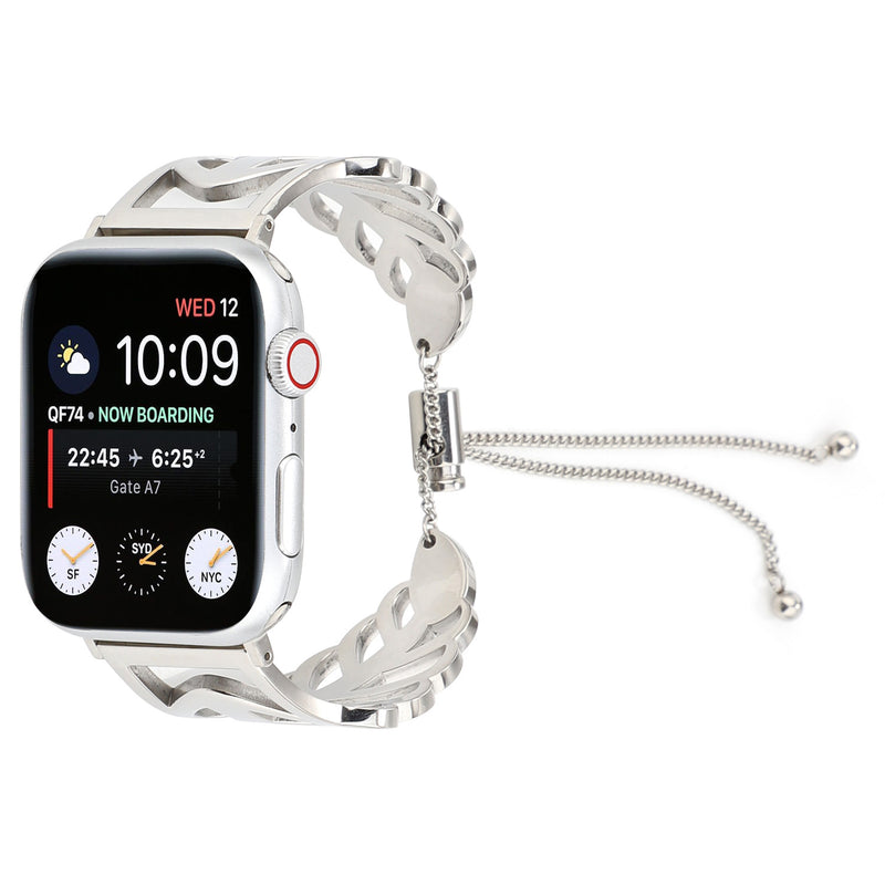 Leaves-Shape Stainless Steel Strap For Apple Watch 1,2,3,4 -  - TomorrowSummer
