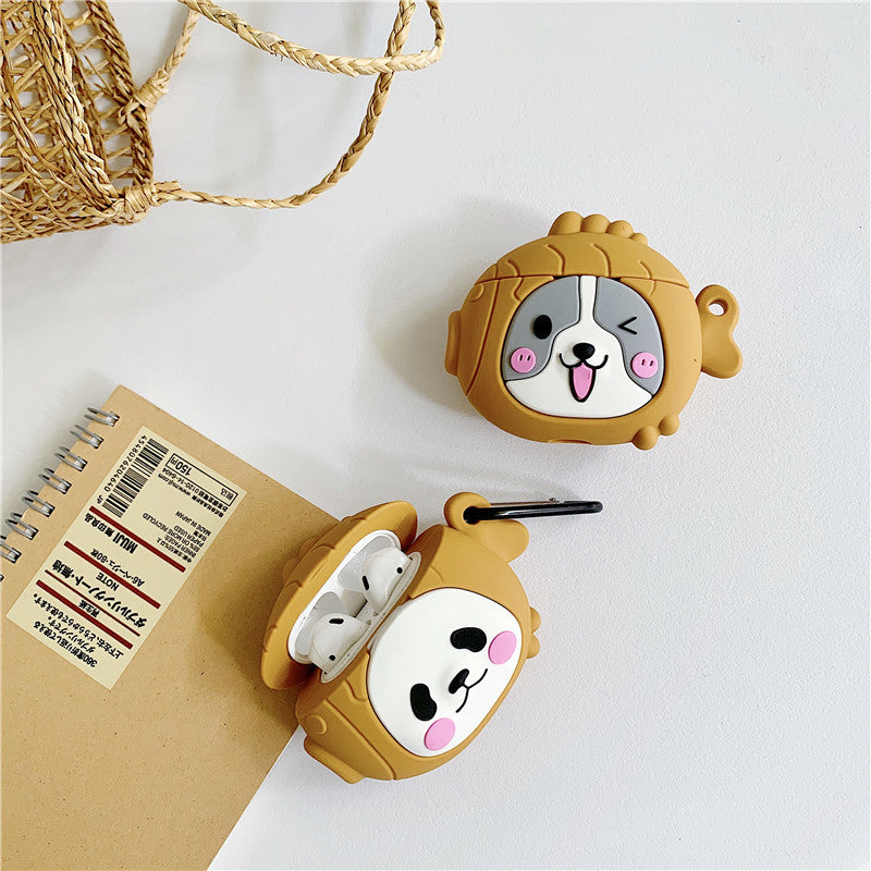 Cute Taiyaki Head Panda & Dog Face Airpods Case -  - TomorrowSummer