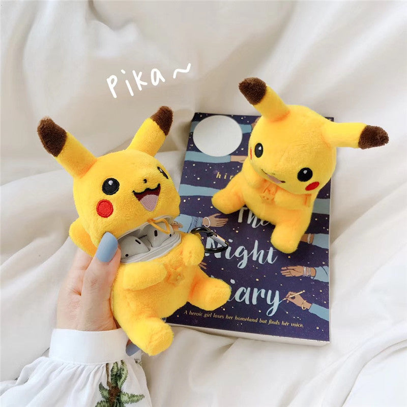 Plush Pikachu Airpods Case -  - TomorrowSummer