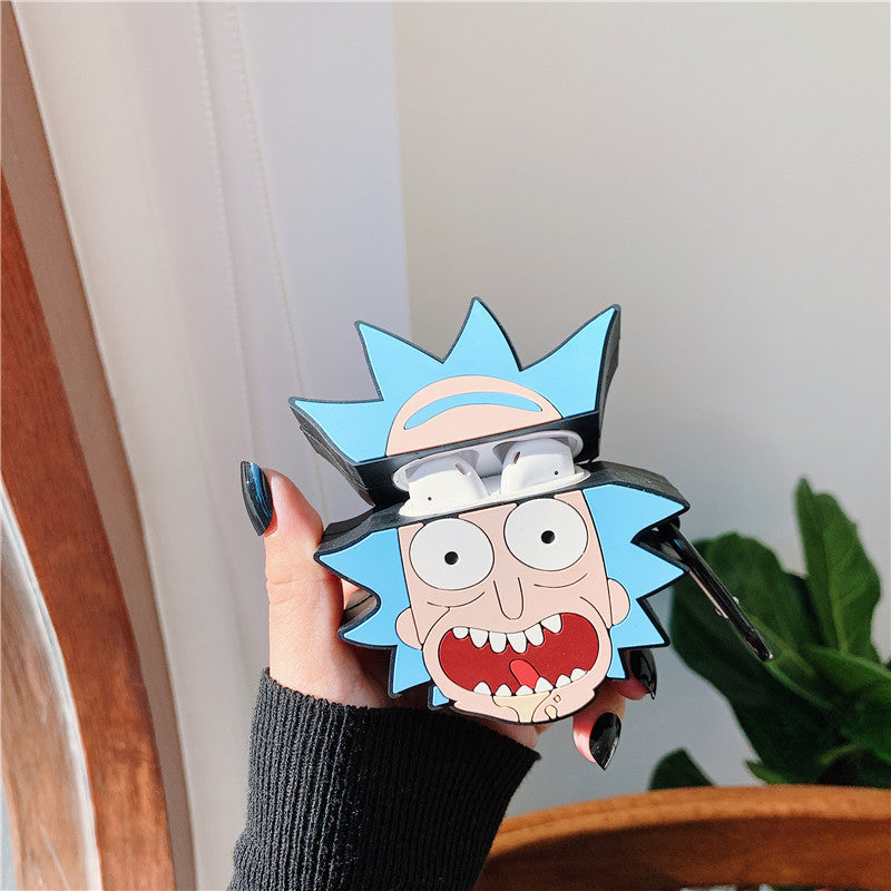 Rick And Morty Head Airpods Case -  - TomorrowSummer