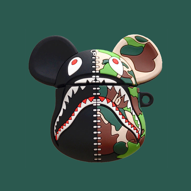Camouflage Shark Bear Airpods Case - Fashion Airpods Cases - TomorrowSummer