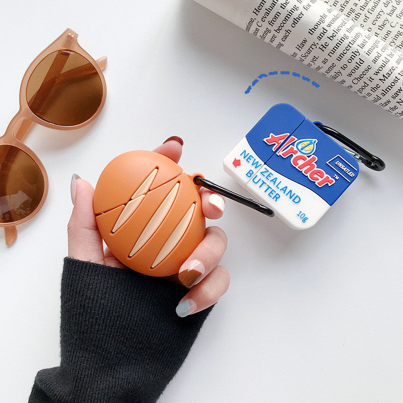 Butter & Bread Shaped Airpods Case - Food Airpods Cases - TomorrowSummer