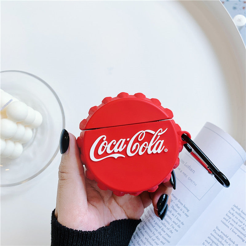 Cola Bottle Cap Shaped Airpods Case - Food Airpods Cases - TomorrowSummer