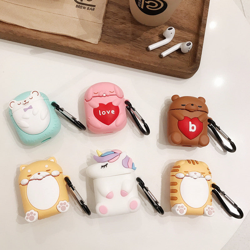 Close Eyes Unicorn Airpods Case