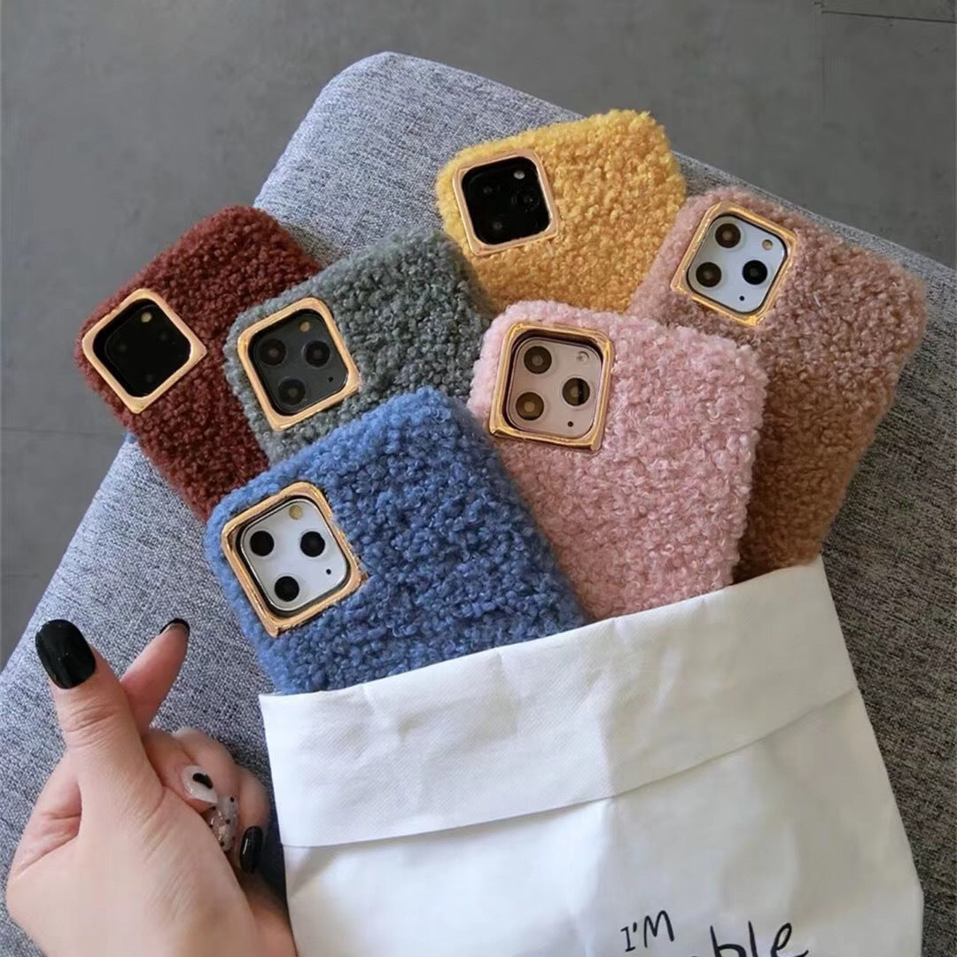 Colorful Plush iPhone Case -  - TomorrowSummer