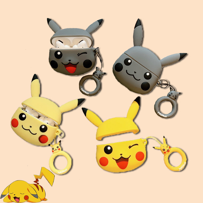 Cute Pikachu Airpods Pro Case - Animation Airpods Cases - TomorrowSummer
