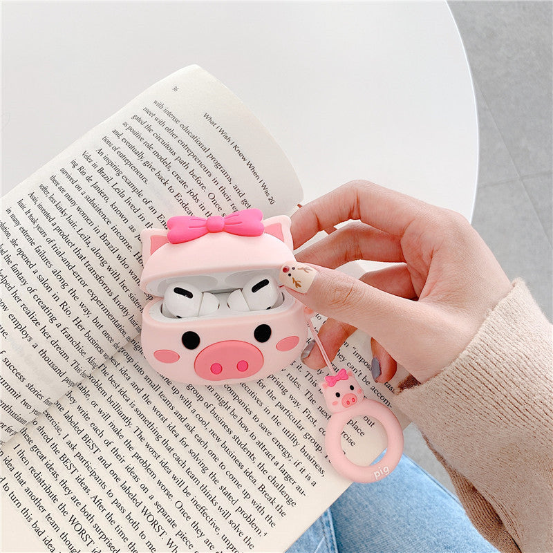 Cute Bow-knot Pig Airpods Pro Case - Popular Airpods Cases - TomorrowSummer