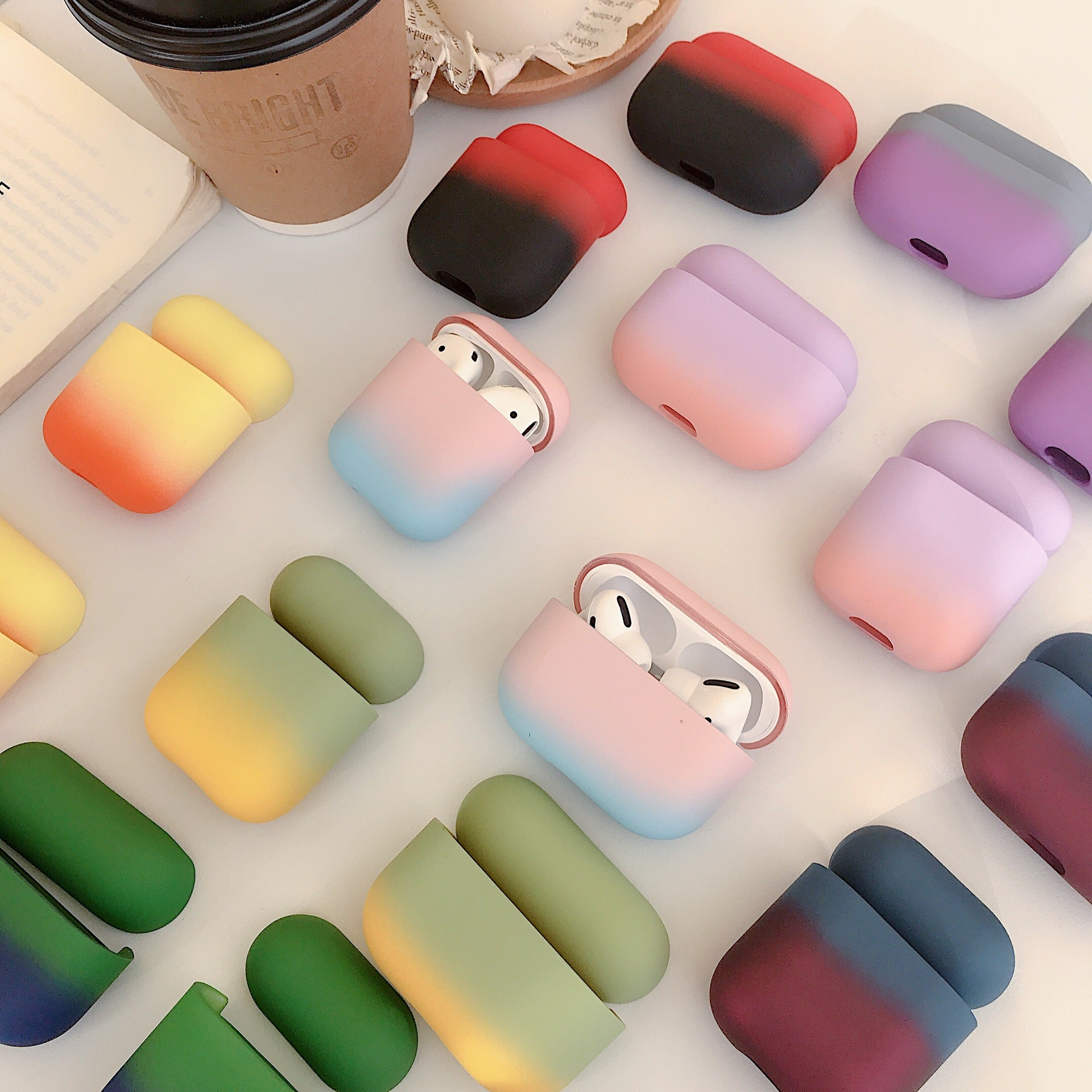 Matte Gradient Colorful Airpods Pro Case -  - TomorrowSummer