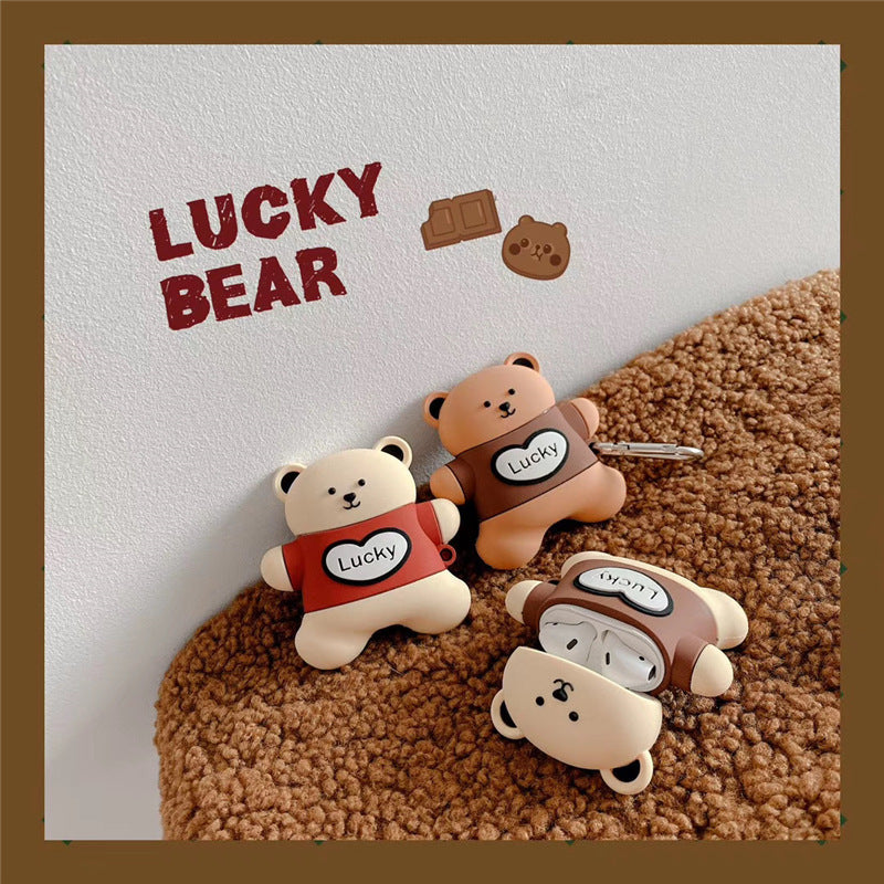 Lucky Bear Biscuit Airpods Case - Animation Airpods Cases - TomorrowSummer