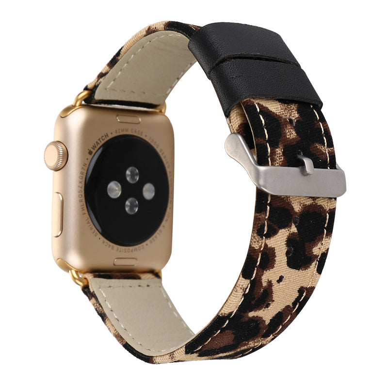 Leopard Canvas Strap For Apple Watch Series 1,2,3,4 -  - TomorrowSummer