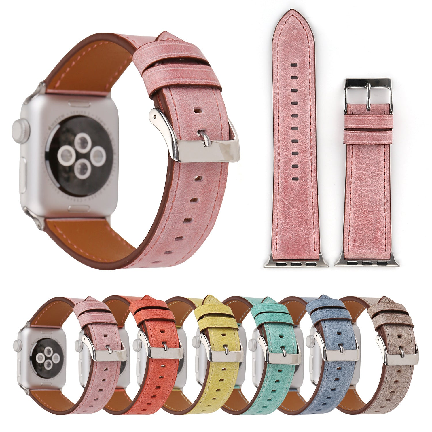 Fashion 6 Jelly Colors Strap For Apple Watch Series 1,2,3,4 -  - TomorrowSummer