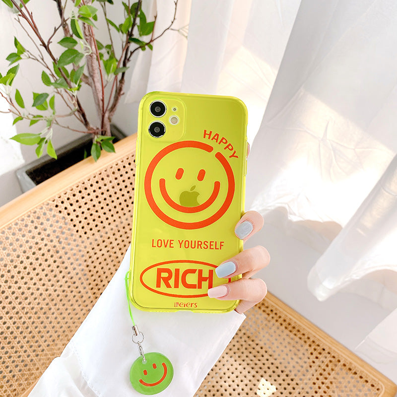 Fluorescent Color Smile iPhone Case